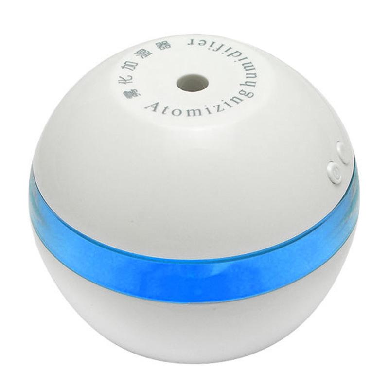 Mini USB Car Humidifier Air Purifier (White/Blue) Singapore