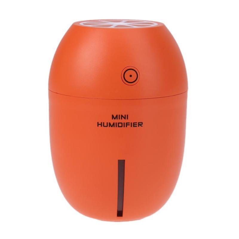 USB Lemon Ultrasonic Humidifier Portable LED Light for Home Office (Orange) - intl Singapore