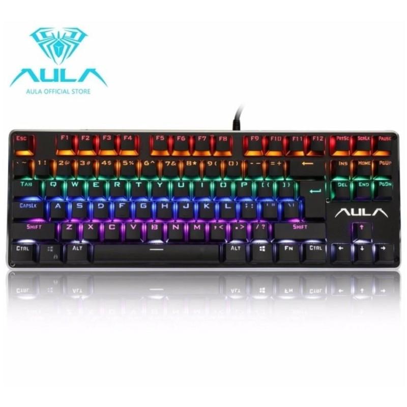 AULA OFFICIAL F2012 Mechanical Gaming Keyboard MulticolorBacklit(Black)  - intl Singapore
