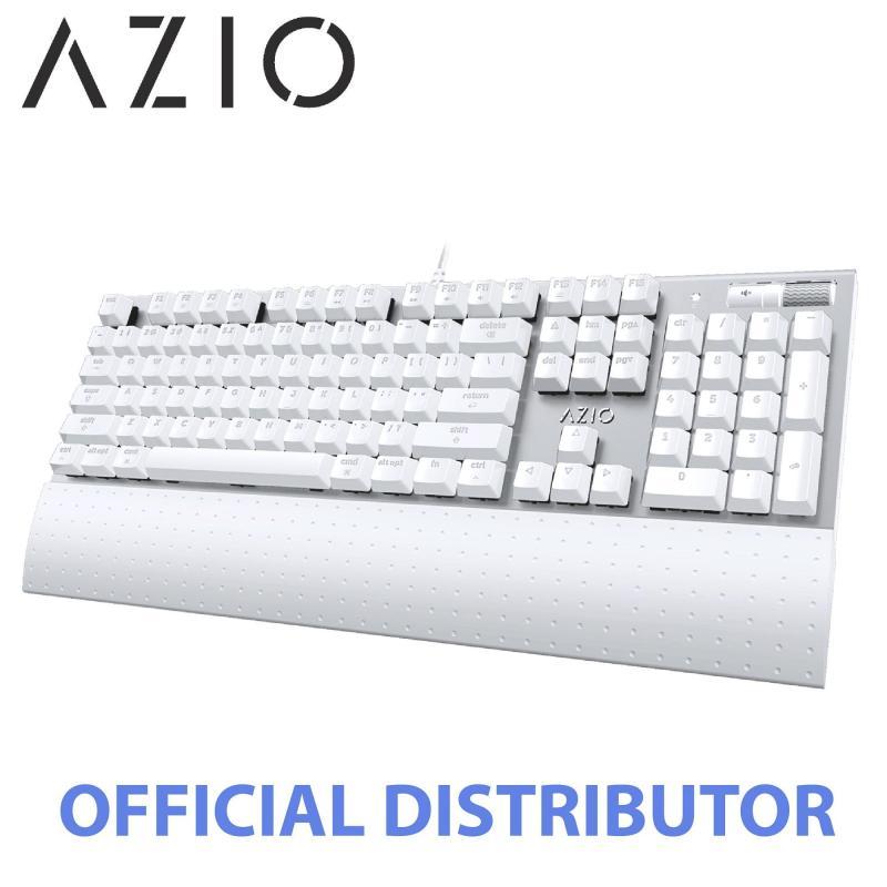 AZIO MK MAC Brown Switch Mechanical White Backlit Keyboard(For Mac OS)