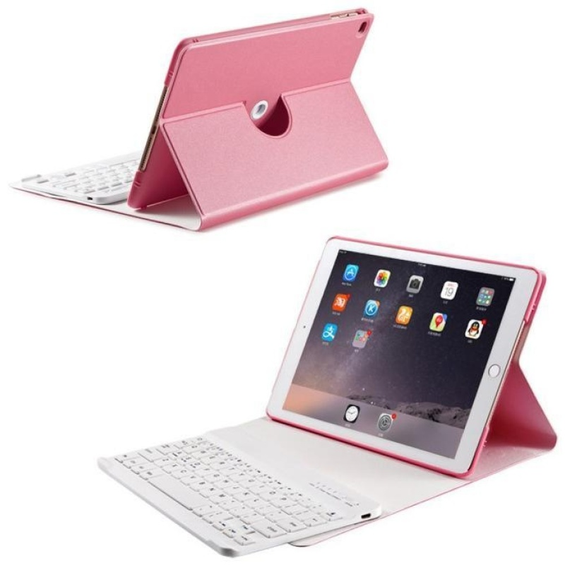 For iPad Air2 Air 9.7in Slim Removable Bluetooth Keyboard Leather Case Cover PK - intl Singapore