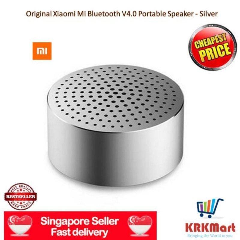 ♠ Local Seller ♠ 100% Original Xiaomi MI Bluetooth V4.0 Wireless Speaker Portable Mini Box Audio with Hands-free Calls - Silver Singapore