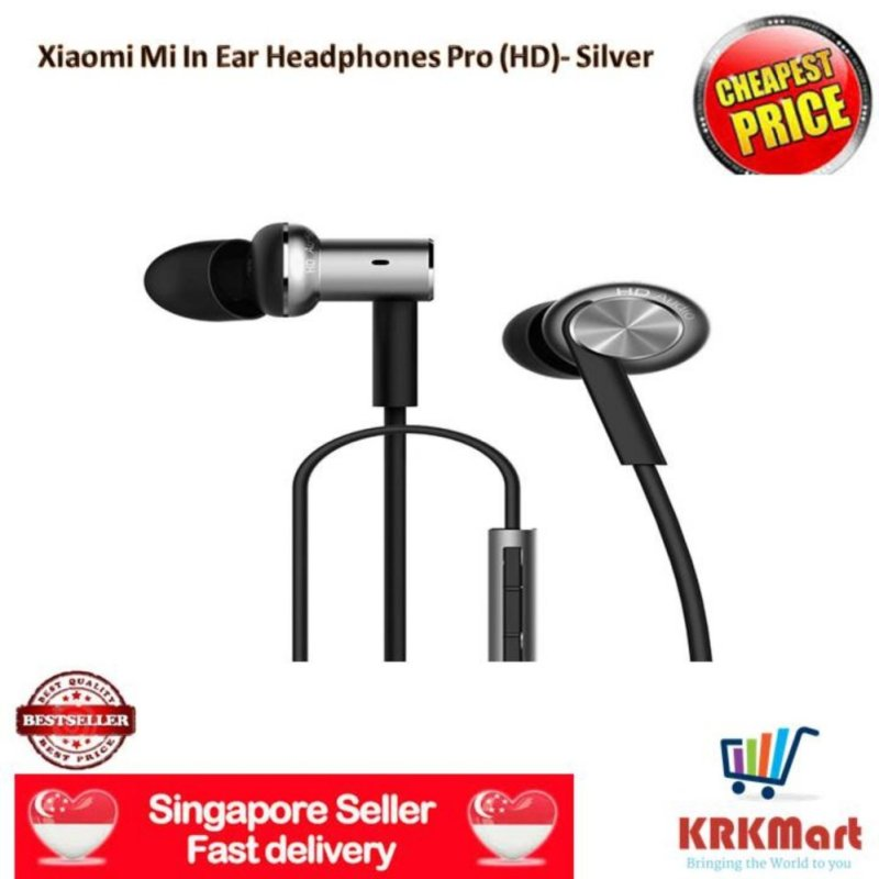 ♠ Local Seller ♠ Original Xiaomi Pro(HD) Mi 3.5mm In-Ear Headphones Earphones - Silver (Silver) Singapore