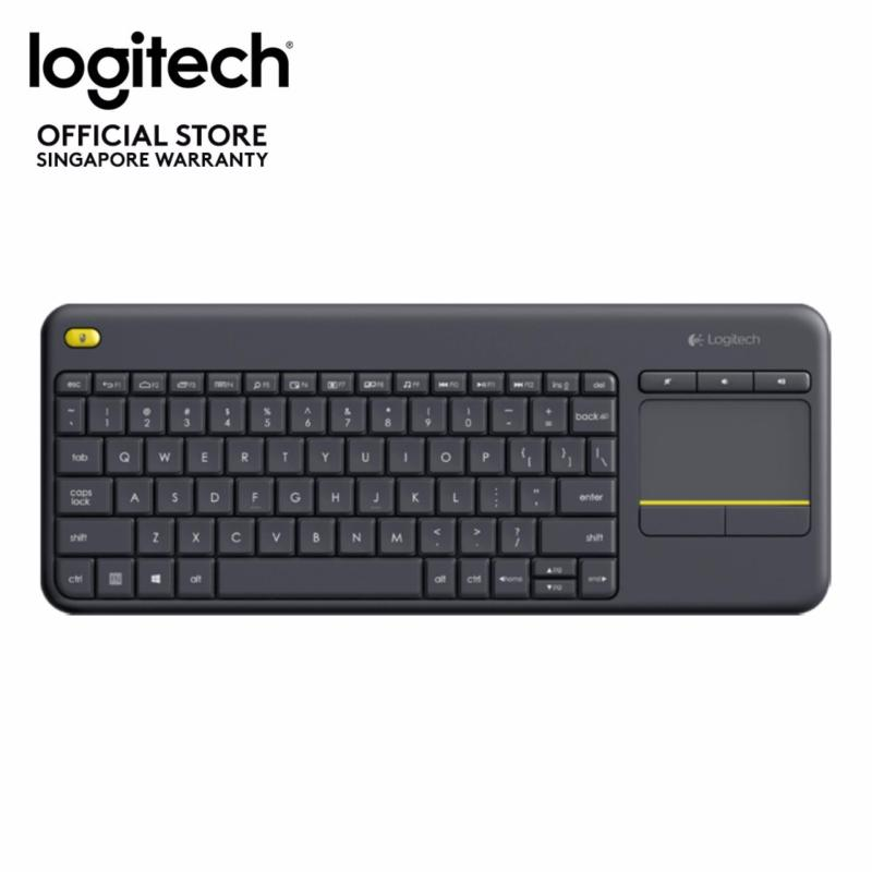 Logitech K400 Plus Black TV Plus Unifying Keyboard with Android Keys and Integrated Touchpad, TV-Connected PC Singapore
