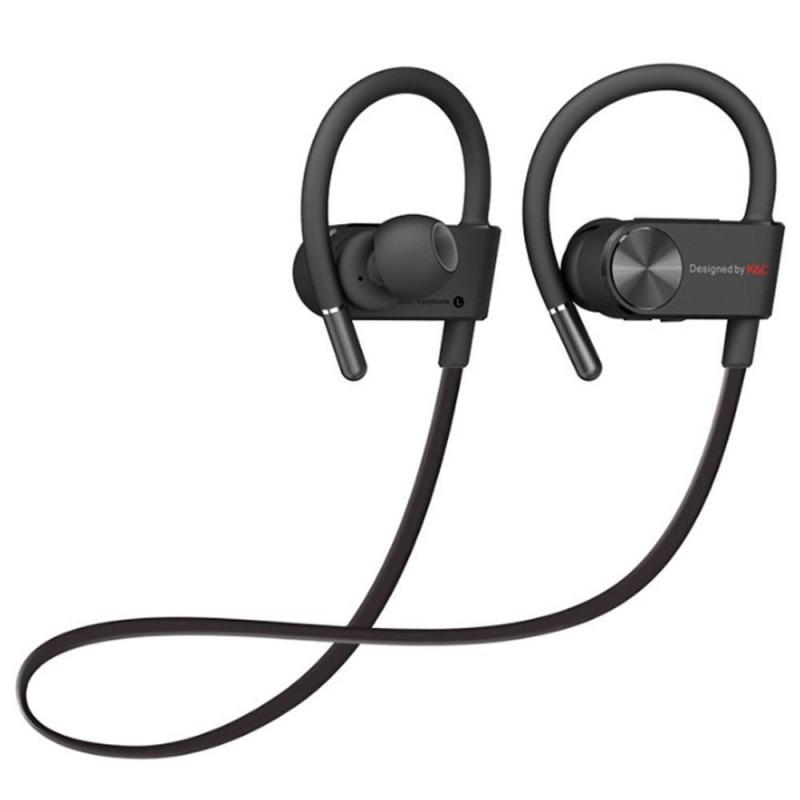niceEshop Bluetooth Earbuds,Sport Headphones With Adjustable Earhooks,IPX 4 Waterproof Sweatproof Earphones For Running Gym Workout Exercise Headset Suitable IOS And Android Smartphones (Black) - intl Singapore