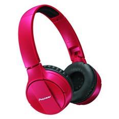 Pioneer Bluetooth Lightweight On Ear Wireless Stereo Headphones, Red (SE -MJ553BT-R