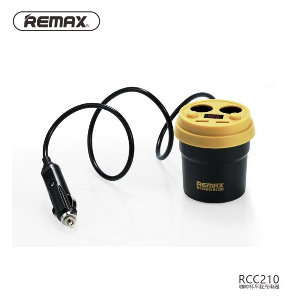 Remax Coffee Cup Car charger CR-2XP USB Charging Adaptor Car Accessories Black Color