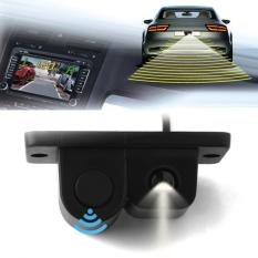 2in1 LCD Car SUV Reverse Parking Radar & Rear View Backup 120 Degree Wide Angle Lens