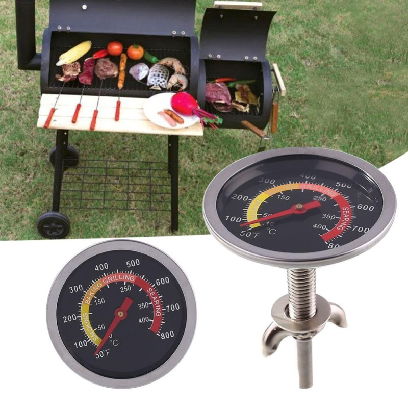 BBQ Barbecue Temperature Gauge Round Grill Cooking Restaurant Tools Beef - intl