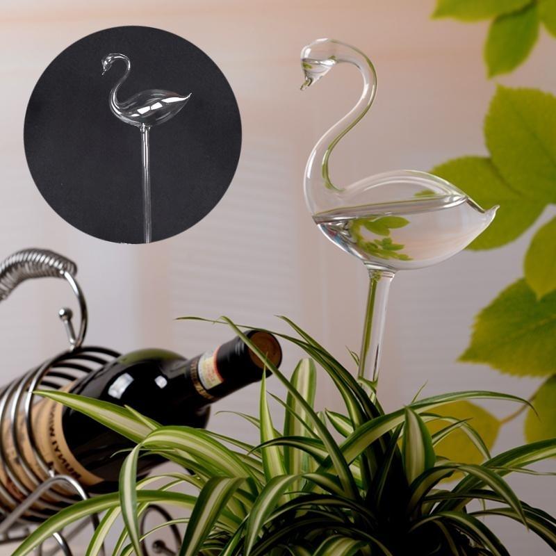 Flamingo Glass Watering Vase Container Home Supply Wedding Gift Garden Decor - intl
