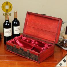 Retro bottle wine box