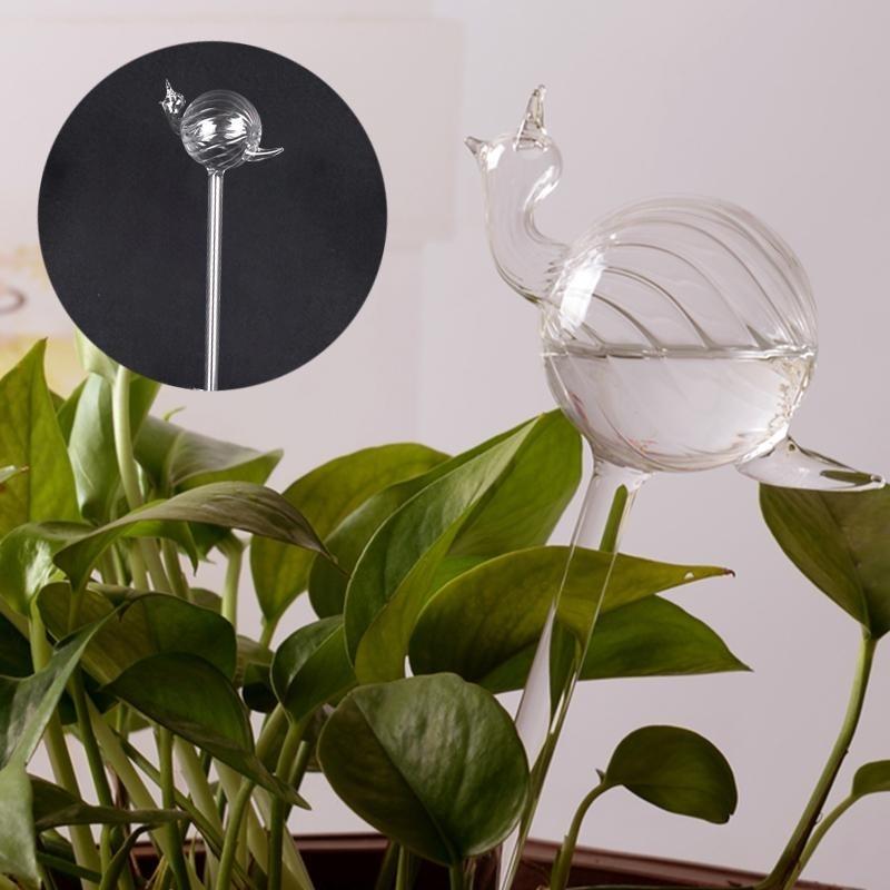 Snail Glass Watering Vase Terrarium Home Supply Wedding Gift Garden Decor - intl