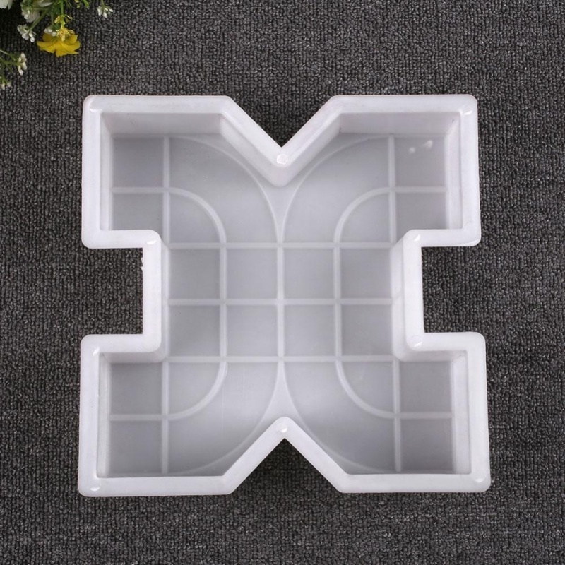 Square Garden Paths Concrete Colorful Brick Mold Circle Stepping Stone Maker - intl
