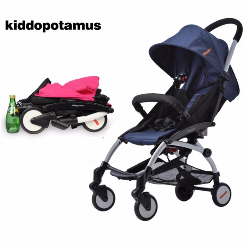 Kiddopotamus® (Stroller+Organiser+Hook) Cabin size Ultra Lightweight one hand fold stroller - Navy Blue Singapore