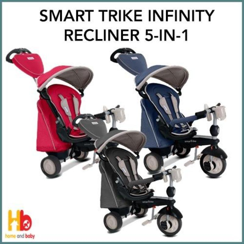 Smart Trike 5-in-1 Recliner Infinity Trike (Black/Red/Blue) Singapore