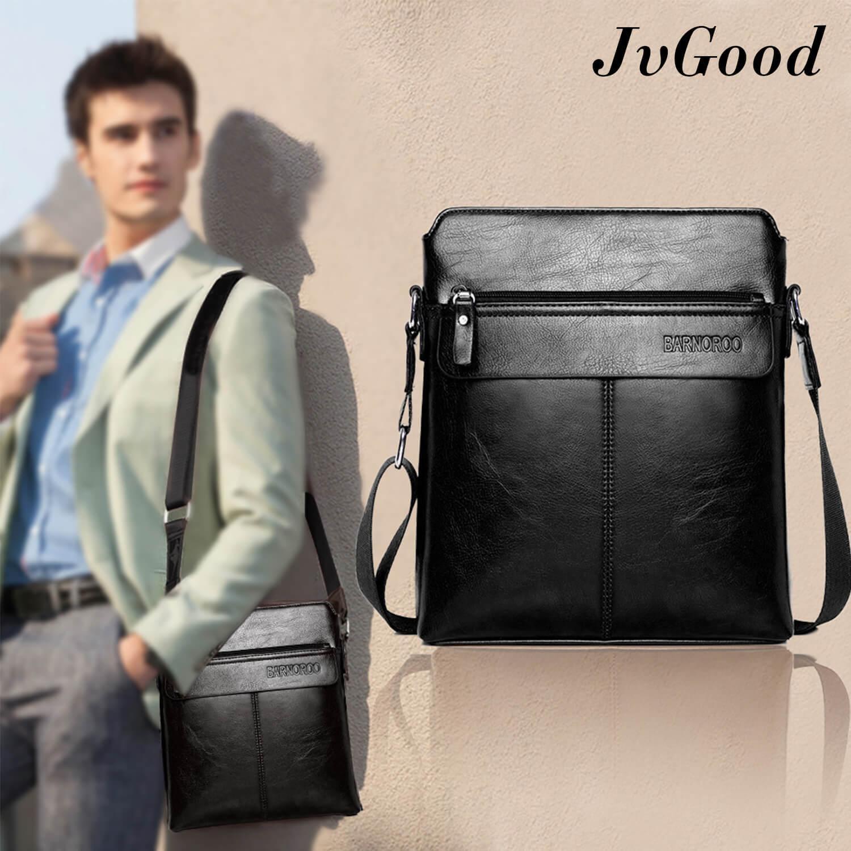54f7cf107fc4 JvGood PU Leather Men Bag Sling Shoulder Crossbody Bag Messenger Bag Casual  Business Men Fashion