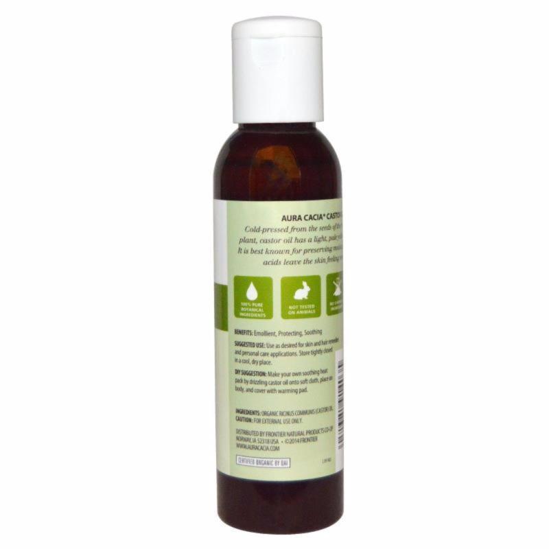 Buy Aura Cacia, Organic Castor Oil 118 ml Singapore