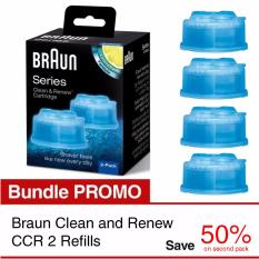 Braun Clean and Renew CCR 2 Refills 25% Promo Bundle
