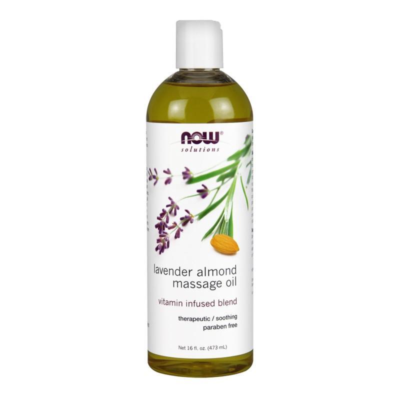 Buy Now Foods Lavender Almond Massage Oil, 16 fl oz (473 ml) Singapore