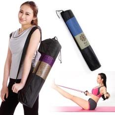 Convenience Portable Yoga Mat Bag Nylon Pilates Exercise Carrier Mesh Center - intl