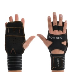 Fitness Gloves with Wrist Support Anti Slip Cross Training Gloves with Padded Grip Strengthener & Palm