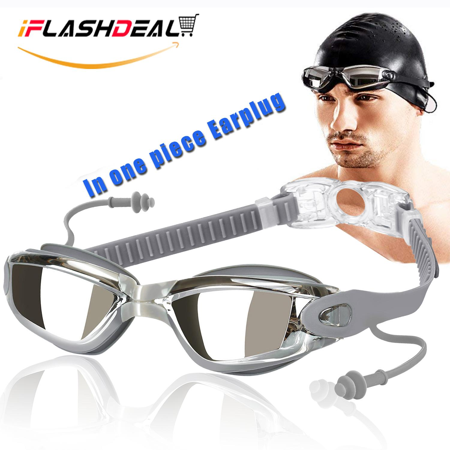 3d342394bb85 iFlashDeal Swimming Goggles Swim Goggles for Adult Men Women Youth Kids  Child Mirrored   Clear Anti-Fog Waterproof UV 400 Protection Lenses