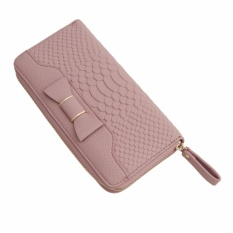 YingWei Lady Bowknot Wallet Zipper Long Purses Card Holder Large Capacity Lady Clutches Women Coin Purse