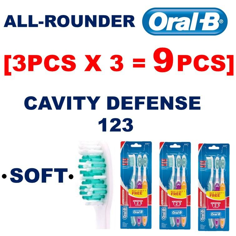 [3pcs x 3 =9pcs]Soft TypeOral B All Rounder 123 3-Way