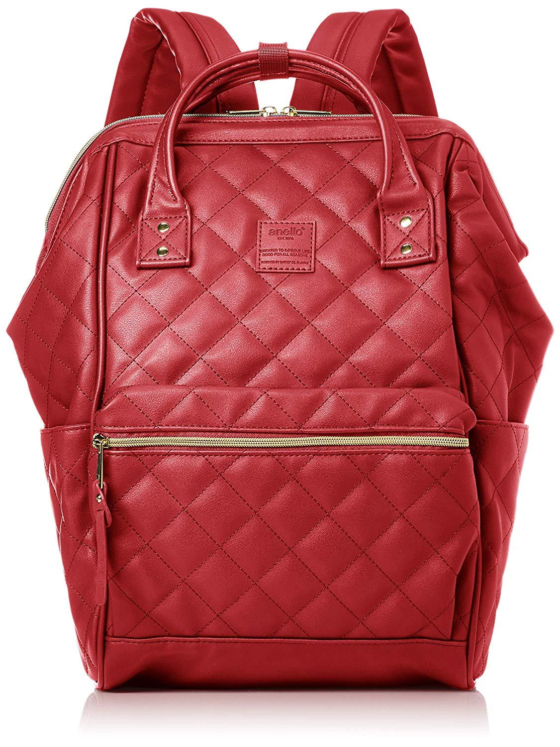 anello  Original Japan Unisex Backpack (NEW 2019 QUILTED FAUX LEATHER 80f6cdc832022