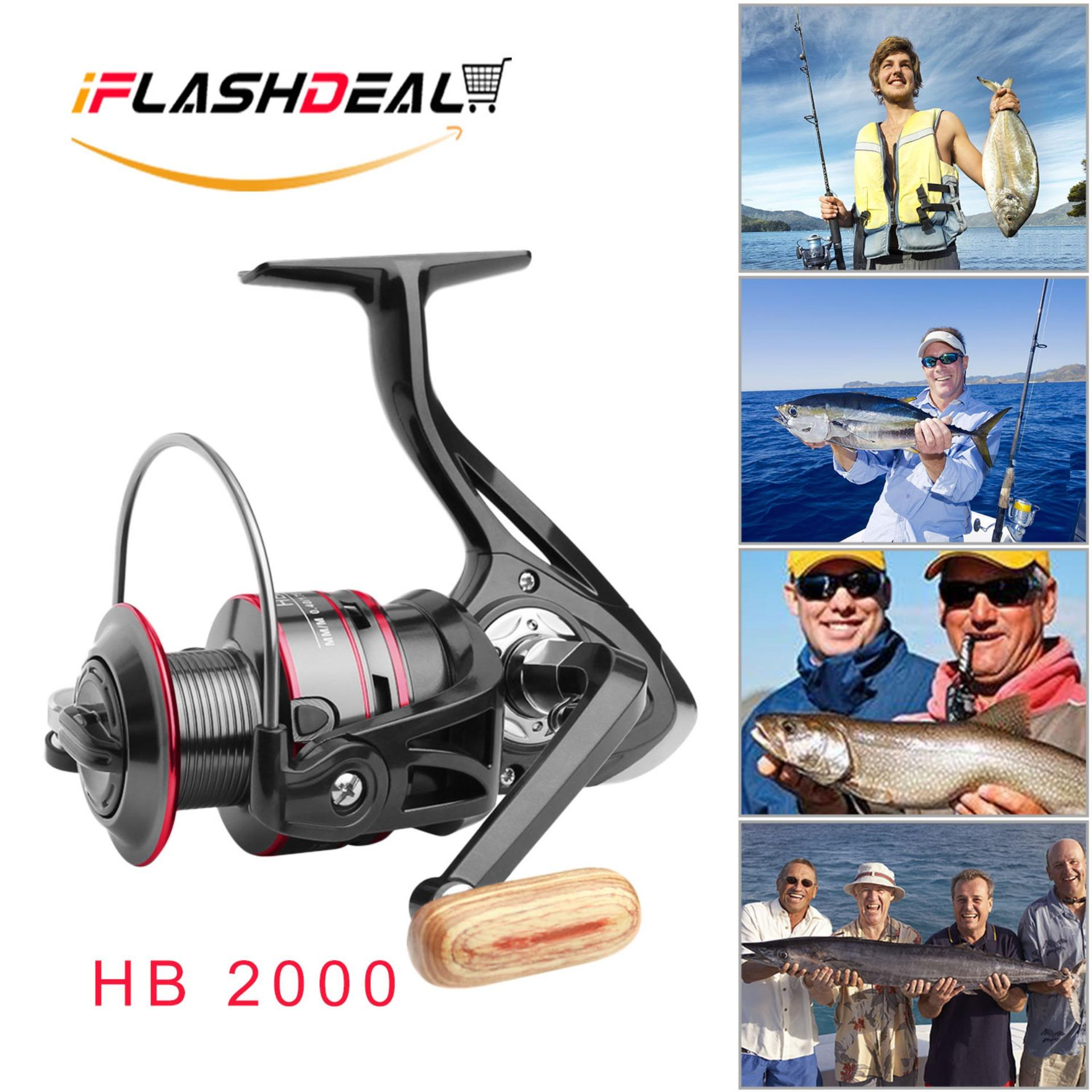 iFlashDeal Fishing Reel, 11+1BB, Light Fish Reels and Smooth Powerful Spinning Reel
