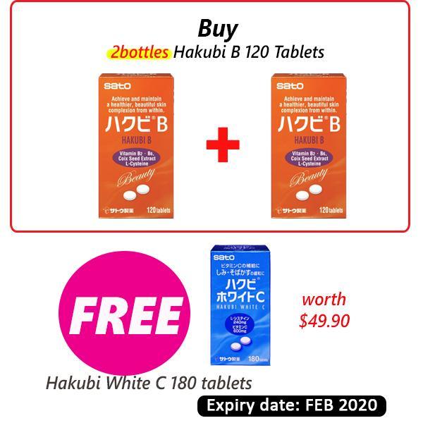Sato Hakubi B Tablet 120tablets x 2bottles