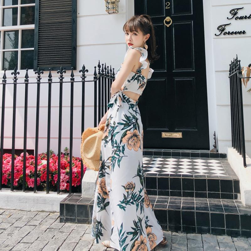 02aace30a9 Beach Skirt Female Summer 2018 New Style Bali Seaside Holiday Strap Dress  Small MAQuillAGE Backless Slimming