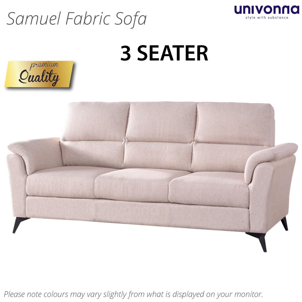 Samuel 3 Seater Fabric Sofa * Color Choice * Free Delivery and Installation * Local Made * Elegant Design