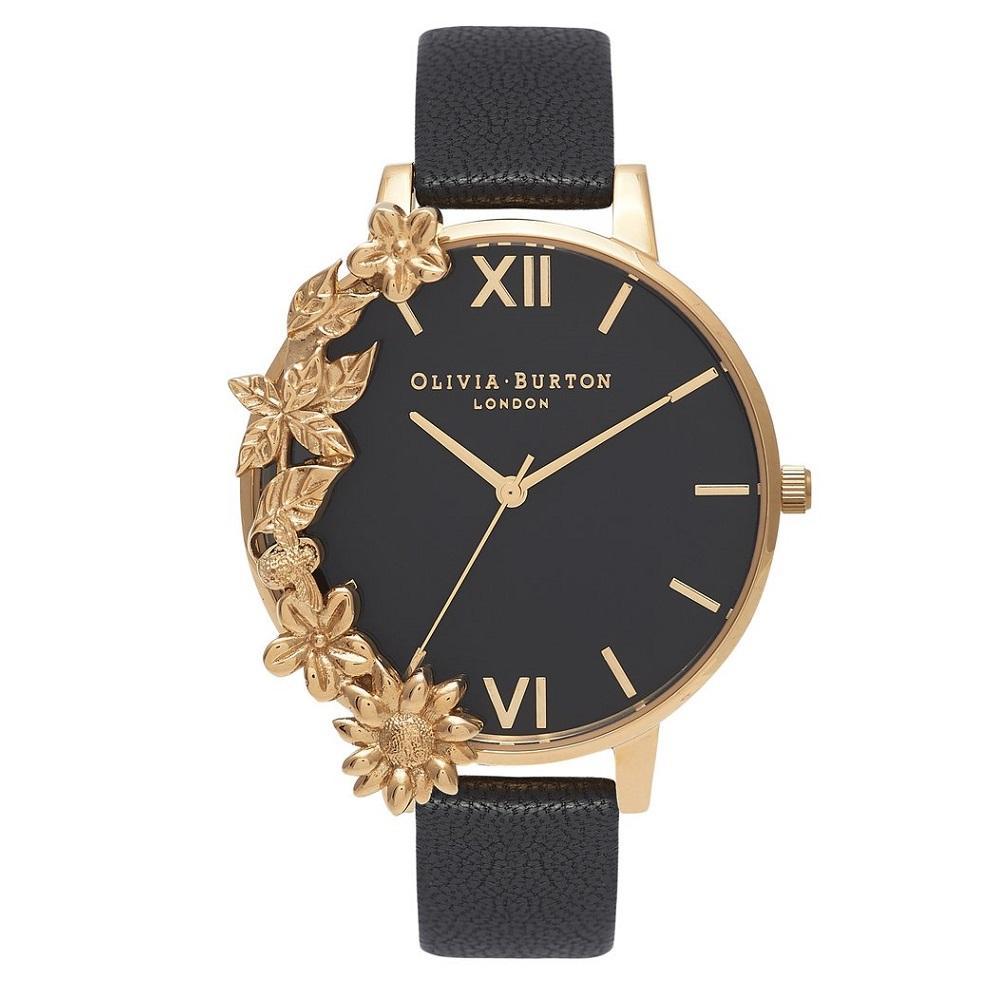 b900c04da042 Olivia Burton OB16CB07 Case Cuffs Gold   Black Watch