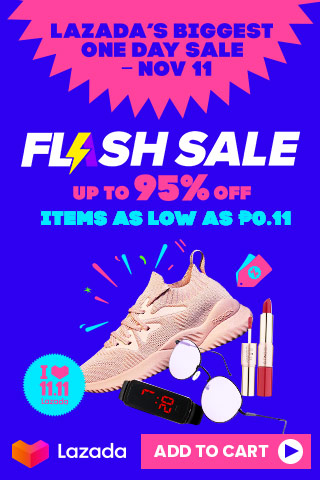 Check out these 11.11 FLASH SALE on Lazada