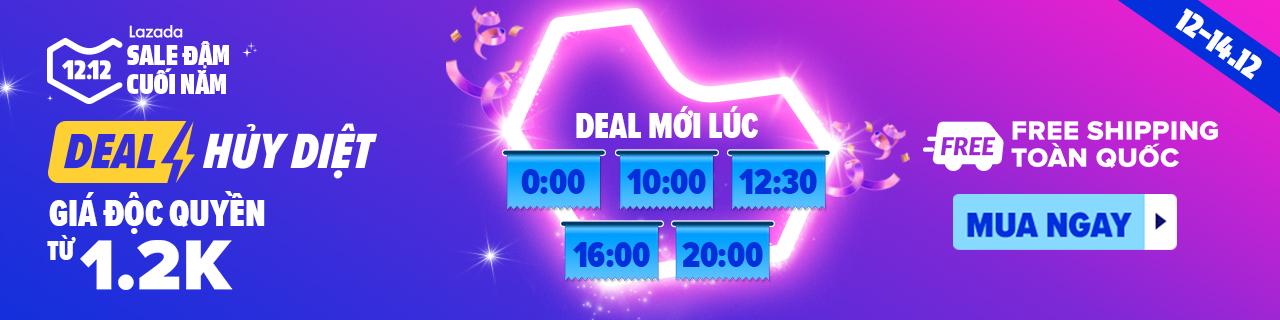 🔥Giá độc quyền từ 1.2K 🔥Giảm đến 75%, Khung giờ Flash Sale: 00:00 12:00 Khung giờ Crazy Flash Sale: 00:00 10:00 12:30 16:00 20:00