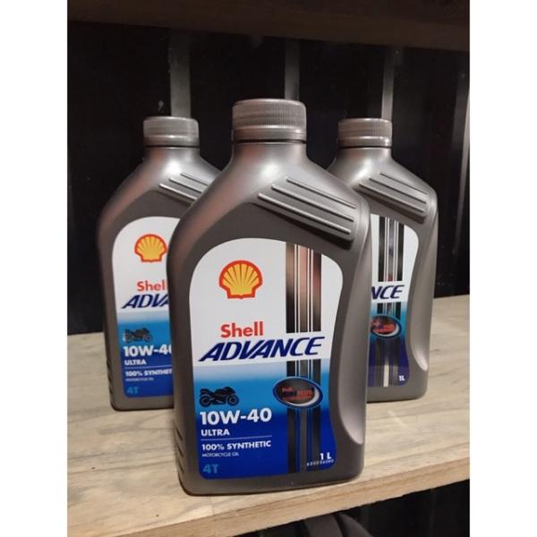 Dầu nhớt tổng hợp cao cấp xe số-xe tay côn,xe tay ga Shell Advance Ultra 10W-40