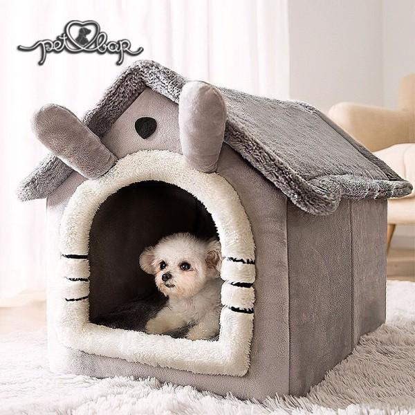 Nhà đệm cho thú cưng cao cấp có thể tháo rời gấp gọn, làm sạch dễ dàng – Ổ cho chó mèo nhiều màu săc cực xinh