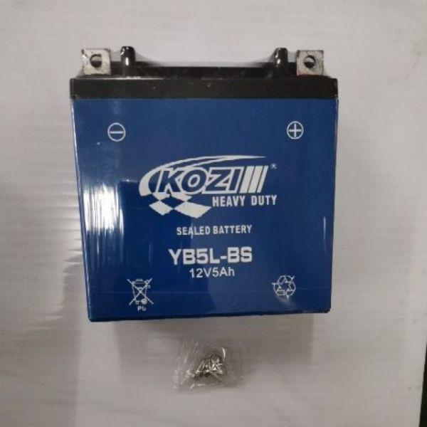 Kozi Sealed Battery YB5L-BS FOR LC135 V1, 125ZR, HONDA ICON, HONDA BEAT