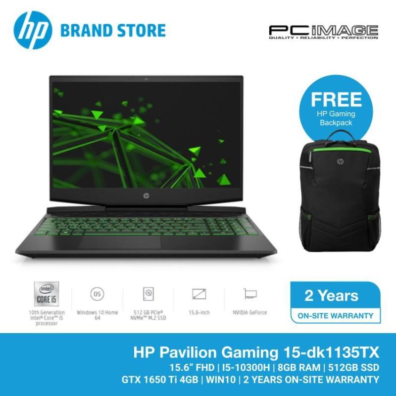 HP Pavilion Gaming 15-dk1135TX 15.6 FHD Laptop/ Notebook (i5-10300H, 8GB, 512GB, GTX1650Ti, W10, 144Hz) - Black Malaysia