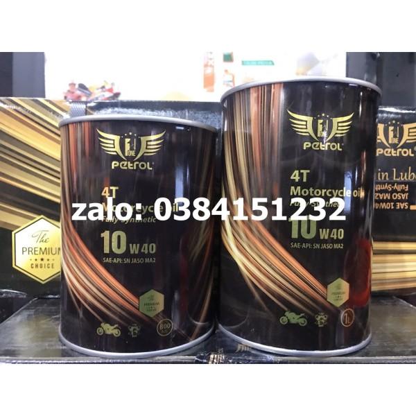 Nhớt Petrol One 100% Tổng hợp 10W40 MA2 1L - 800ml