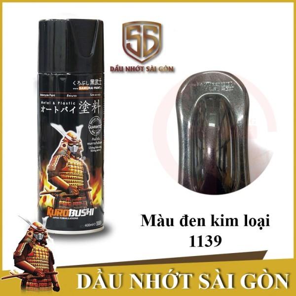 [HCM]1139 _ Sơn xit Samurai 1139 màu đen kim loại _ Metallic Black