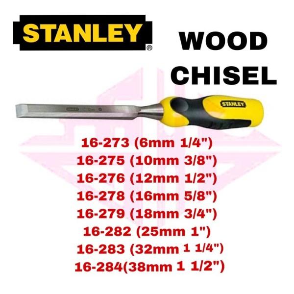 STANLEY 16-273 16-275 16-276 16-278 16-279 16-282 16-283 16-284 DYNAGRIP WOOD CHISEL pahat kayu