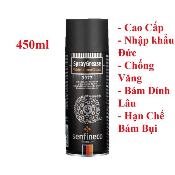 Chai 450ml Xịt dưỡng sên Senfineco nhập khẩu Đức- 9977 Spray Grease 450ml - Cam kết không văng không bám bụi lâu khô