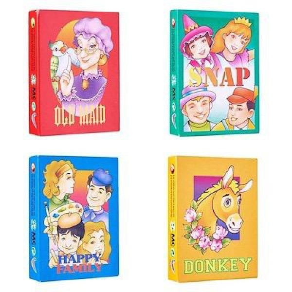 THorCo Childhood Games /Family Card /  Kids Happy Family Card (Donkey / Snap / Old Maid/Happy Family) Malaysia