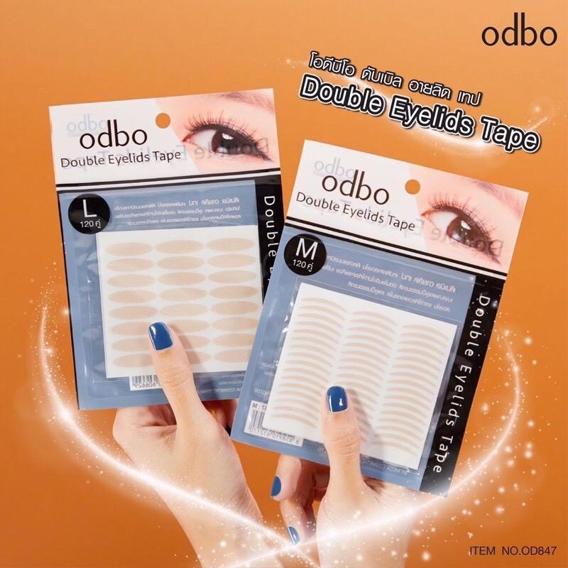 Od847 ตาข่ายติดตา 2ชั้น Odbo Double Eyelid Tape สีเนื้อธรรมชาติ 120คู่ มี เลือกขนาดด้านในค่ะ.