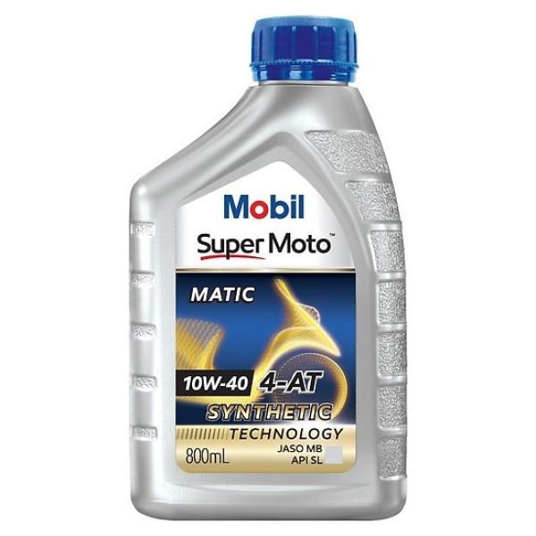 Nhớt cao cấp xe tay ga Mobil Super Moto Scooter 10w40 800ml Nhập khẩu Singapore