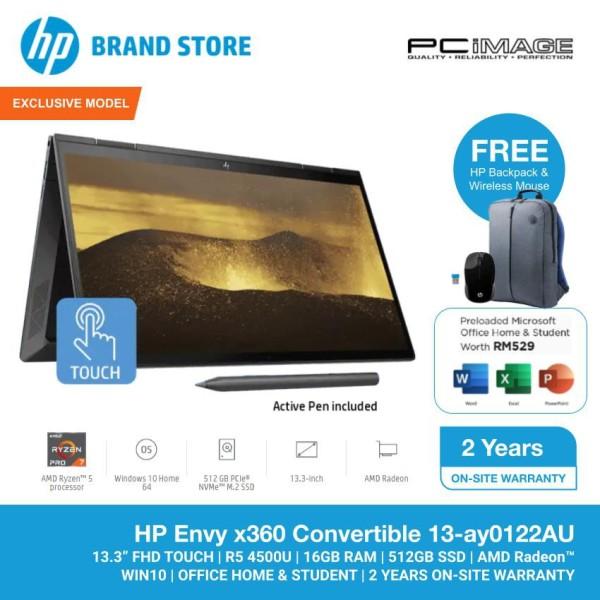 HP Envy X360 13-AY0122AU 13.3 Laptop/Notebook (AMD Ryzen 5, 16GB, 512GB SSD, AMD Radeon, W10, Off H&S) Malaysia