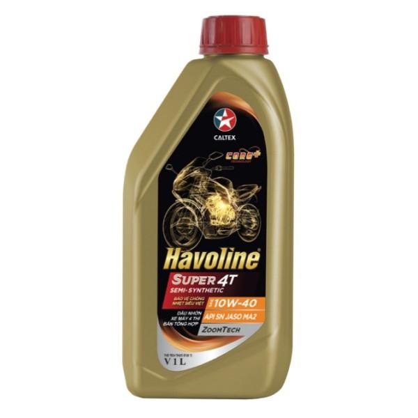 Nhớt xe số Caltex SEMI Havoline 10W40 - dầu nhớt 4T bán tổng hợp xe máy, xe côn tay, exciter, winner, raider