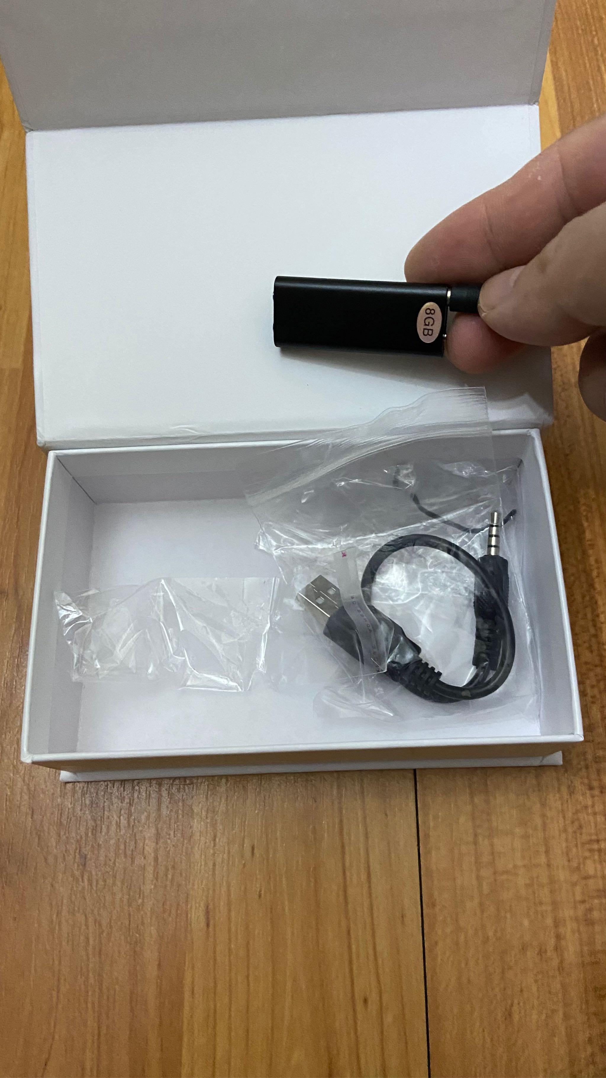 Máy Ghi Âm Mini Thiết Bị Nghe Giọng Nói 96 Giờ Lỗi 8GB
